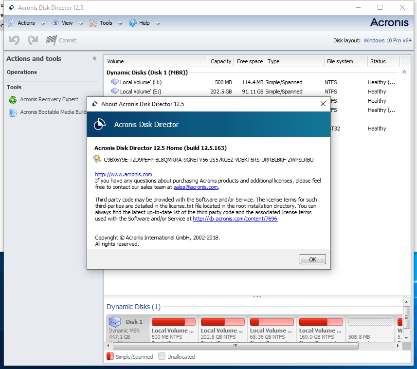 Acronis Disk Director 12.5 Build 163 + BootCD 破解版下载